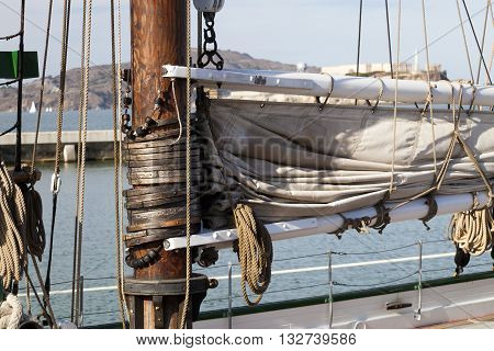 The Hawser On The Sailboat Mast