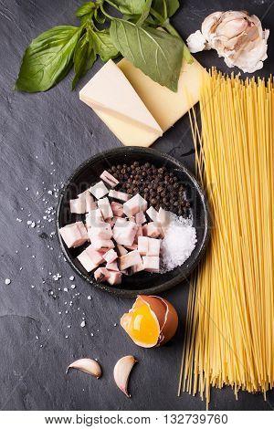 Ingredients For Spaghetti Alla Carbonara
