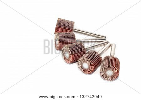Flap Wheel isolated on white background .