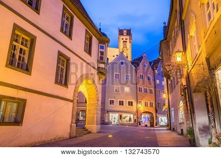 Fussen Town At Night In Bavaria, Germany