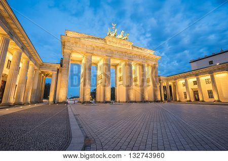 Brandenburger Tor (brandenburg Gate) In Berlin Germany At Night