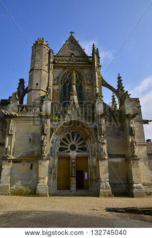 Serans France - march 14 2016 : the saint denis chirch
