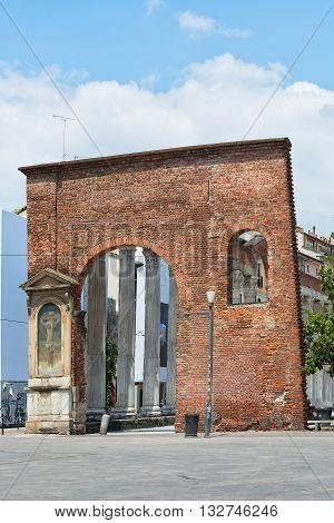 Columns Of San Lorenzo In Milan