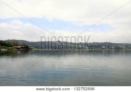 Landscape Of Aiguebelette Lake In France