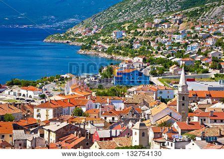 Town of Senj architecture and coast Primorje region of Croatia