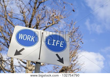 Work And Life Balance Or Decisions Concept