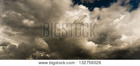 Background of dark clouds before a thunder-storm.