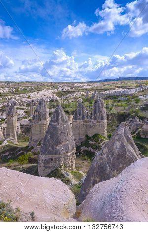 Famous Love valley in Cappadocia, Turkey