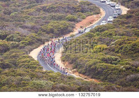 MELBOURNE, AUSTRALIA - FEBRUARY 1: The inaugral Cadel Evans Great Ocean Road Race