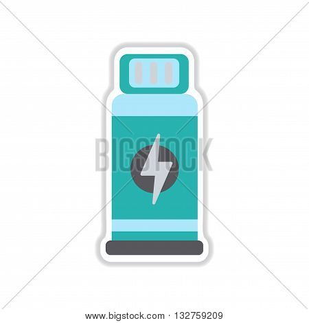 paper sticker on white  background Bottles potion