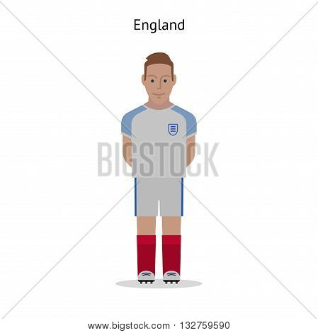 Football kit. England soccer player form. Vector illustration