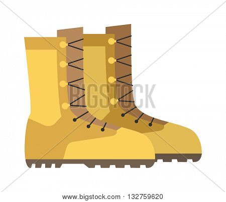 Military boots combat soldier vector illustration