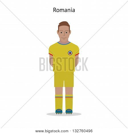 Football kit. Romania soccer player form. Vector illustration