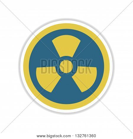 paper sticker on white  background toxic symbol