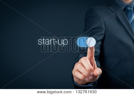 Start-up business concept. Switch on start-up business.