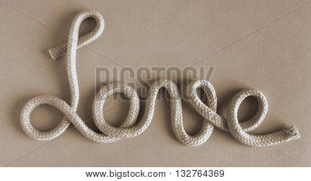 The expressions of love by means of rough rope concept - Duotone effect