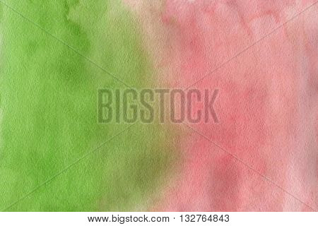 Abstract Pink And Green Watercolor Background
