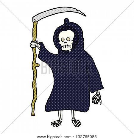freehand drawn cartoon spooky death figure
