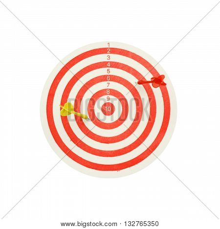 darts board isolated on white color background
