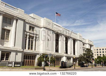 DALLAS USA - APR 7: Union Station in the city of Dallas. April 7 2016 in Dallas Texas United States