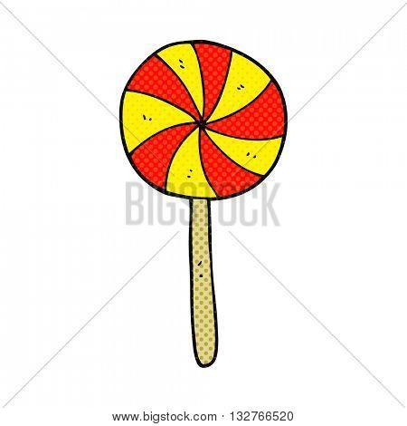 freehand drawn cartoon candy lollipop
