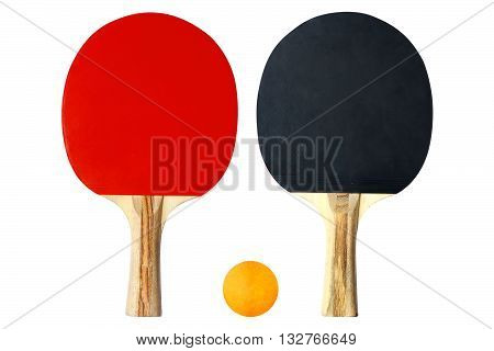 Table Tennis Racket on white color background