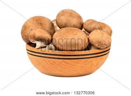 Mushrooms Champignons In Bowl