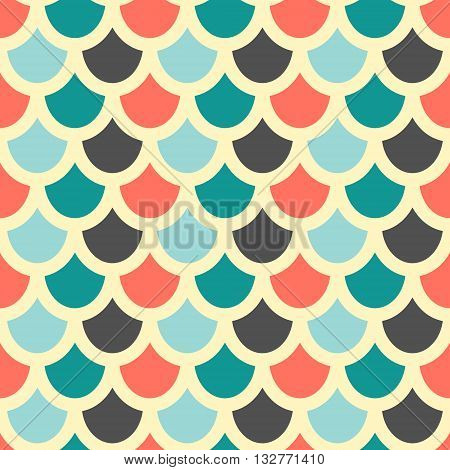 Vector. Fish skin style seamless pattern. Background suitable for wrapping paper print packaging cards web textile and other. Beige background