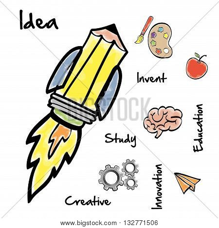 Big idea concept with icon design, vector illustration 10 eps graphic.