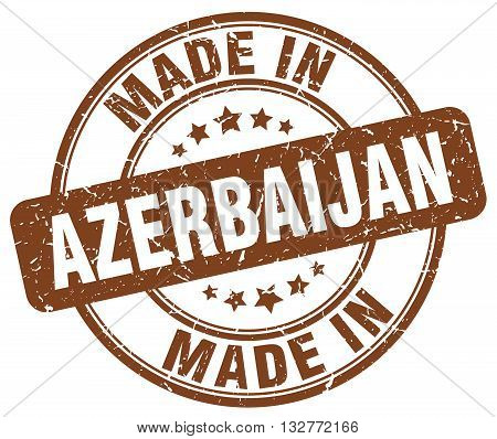 made in Azerbaijan brown round vintage stamp.Azerbaijan stamp.Azerbaijan seal.Azerbaijan tag.Azerbaijan.Azerbaijan sign.Azerbaijan.Azerbaijan label.stamp.made.in.made in.