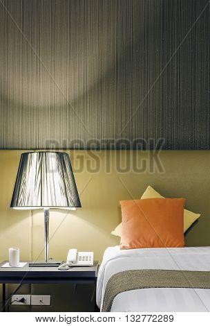 Interior design detail of 3 star hotel room