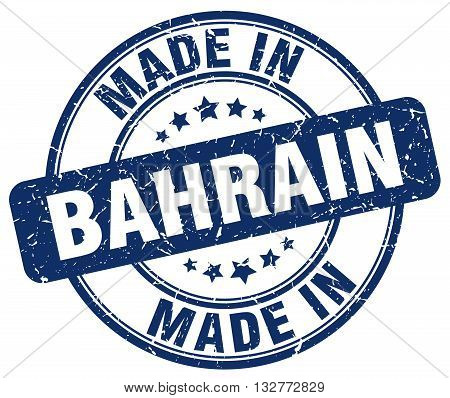 made in Bahrain blue round vintage stamp.Bahrain stamp.Bahrain seal.Bahrain tag.Bahrain.Bahrain sign.Bahrain.Bahrain label.stamp.made.in.made in.