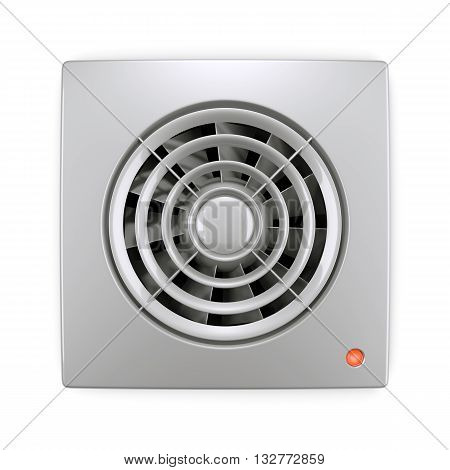 Electrical Air Ventilation Fan Isolated On White Background 3D