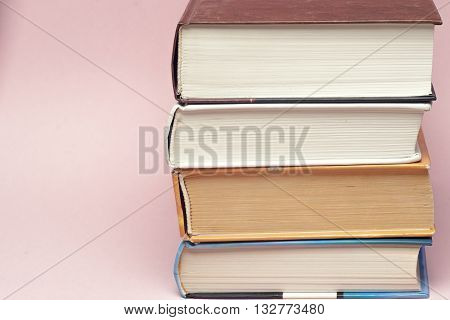 Vintage Old Books On Light Background