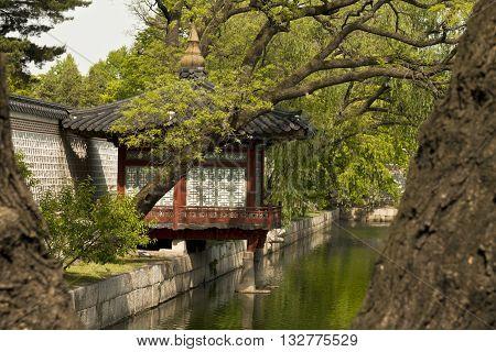 Seoul, Korea  - May 17 2015: Gyeonghoeru Pavilion of Gyeongbokgung Palace Seoul South Korea on May 17 2015