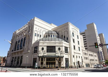 FORT WORTH USA - APR 6: The Bass Performance Hall building downtown in Fort Worth. April 6 2016 in Fort Worth Texas USA
