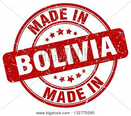made in Bolivia red round vintage stamp.Bolivia stamp.Bolivia seal.Bolivia tag.Bolivia.Bolivia sign.Bolivia.Bolivia label.stamp.made.in.made in.