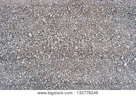 Road stone gravel for texture or background