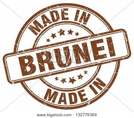 made in Brunei brown round vintage stamp.Brunei stamp.Brunei seal.Brunei tag.Brunei.Brunei sign.Brunei.Brunei label.stamp.made.in.made in.