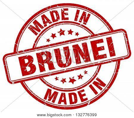 made in Brunei red round vintage stamp.Brunei stamp.Brunei seal.Brunei tag.Brunei.Brunei sign.Brunei.Brunei label.stamp.made.in.made in.