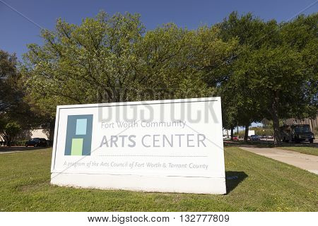 FORT WORTH USA - APR 6: The Fort Worth Community Arts Center in the Cultural District. April 6 2016 in Fort Worth Texas USA