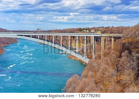 International Rainbow Bridge Above Niagara River Gorge