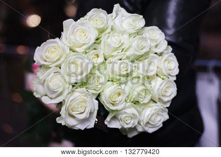 красивые свадебный букет из белы
