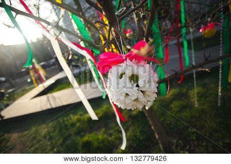 свадебные украшения атрибутика, красивые цветы, лето пришло