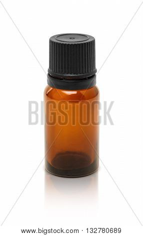 blank packaging cosmetic serum bottle isolated on white background with clipping path