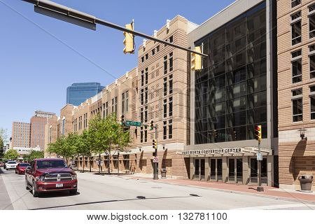 FORT WORTH USA - APR 6: The Fort Worth Convention Center building. April 6 2016 in Fort Worth Texas USA
