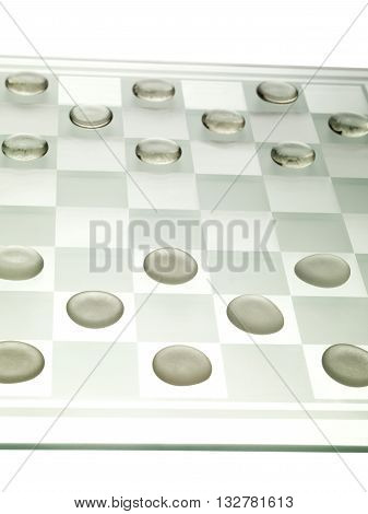 Cropped Image Of A Chess Board With Chess Piece