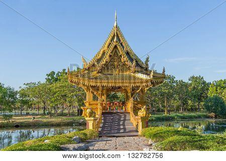 Sala Thai Pavilion in the Ancient Siam Thailand