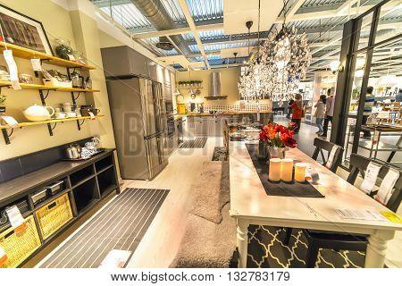 KUALA LUMPUR MALAYSIA - MAY 22 2016 :Interior furniture store