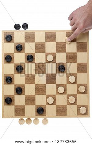 White On The Moves On The Checkers